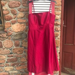 NEW Ann Taylor Red Silk Dress Size 8